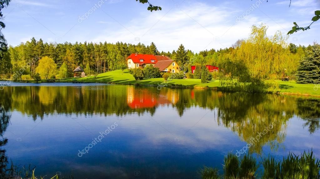 An image of House in the middle of forest — Stock Photo #17679253