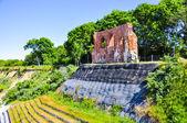 Ruins of antique church in trzesacz, poland — Stock Photo