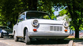Old retro white car — Stock Photo
