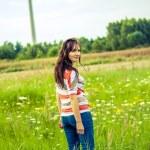 Brunette girl portrait — Stock Photo #17850461