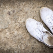 White dirty shoes — Stock Photo