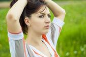 Brunette girl portrait — Stock Photo