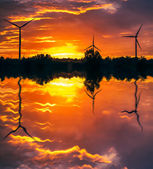 Opravené windturbines — Stock fotografie