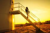 Windtrubine stairs — Stock Photo