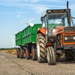 Stock Photo: Tractor with trailers