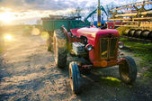 Red old tractor — Stock Photo