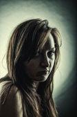 Women's dark portrait — Stock Photo