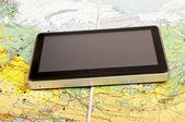 системы навигации и дорожная карта — Стоковое фото