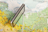 Navigation system and road map — Stock Photo