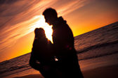Couple at beach — Stock Photo