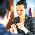 Woman doing make up — Stock Photo #25124399