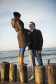 Couple at beach — Foto de Stock