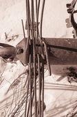 Máquina antiga agricultura enferrujado — Foto Stock