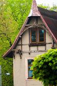Antigua casa abandonada en el bosque — Foto de Stock