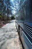 Autobus na trasie — Zdjęcie stockowe