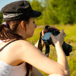 Nature photographer takes pictures — Stock Photo #27473995