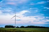 Turbine eoliche al tramonto — Foto Stock