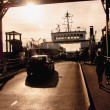 Cars entering the ferry — Stock Photo