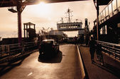 Cars entering the ferry — Foto Stock