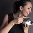 Businesswoman drink coffee — Stock Photo