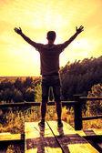 Man feel the freedom — Stock Photo