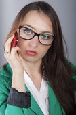 Businesswoman talking phone — Stock Photo