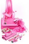 Pink fashion accessories — Stock Photo