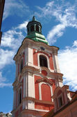 Baroque tower of church in Poznan — Stock Photo