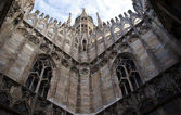 Gothic adornment on church in Milano — Stock Photo