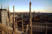 Milan Cathedral in evening — Stock Photo