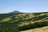 Sniezka peak in Karkonosze mountains — Stok fotoğraf