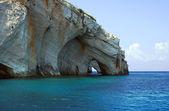 Blauwe grotten, zakynthos eiland — Stockfoto