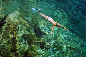 Snorkeling on Zakynthos island — Stock Photo