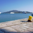 Bollard in port, Zakynthos City — Stock Photo