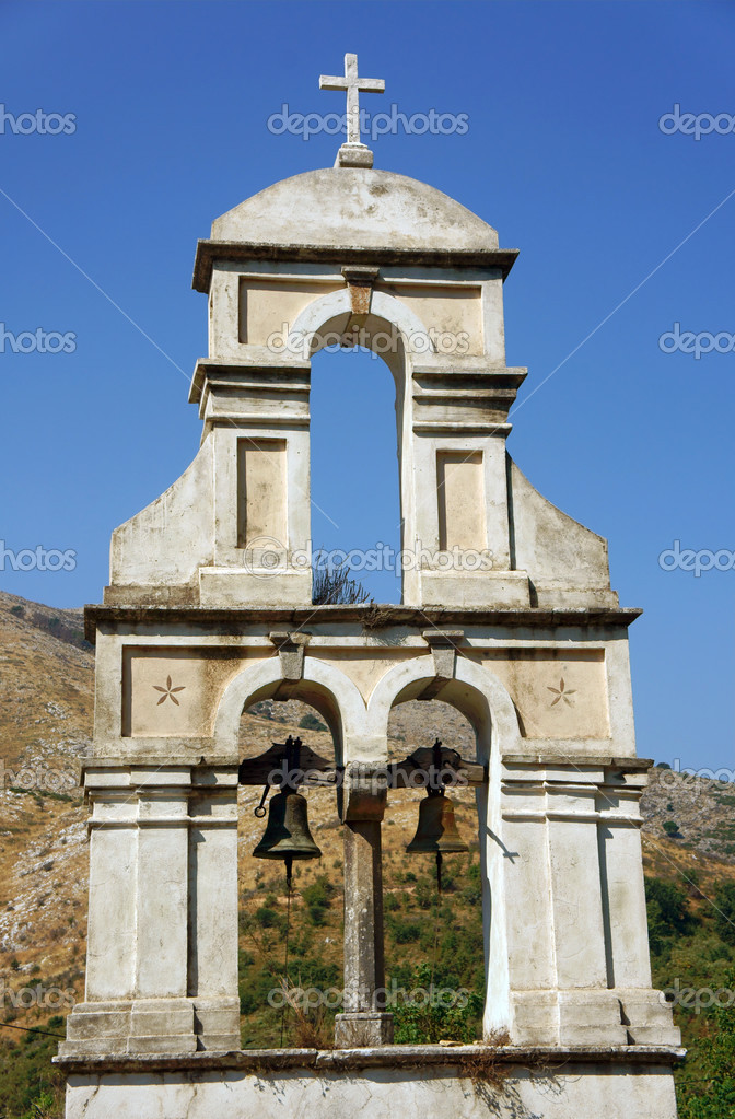 Church tower in Corfu island, Greece — Stock Photo #13540206