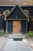 дверь деревянная церковь — Стоковое фото