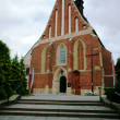 Gothic parish church in Szydlow — Stock Photo