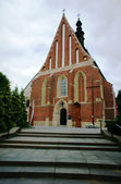 Gothic parish church in Szydlow — ストック写真