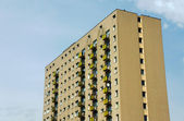 Housing development with tower block in Poznan — Stock Photo