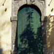 Door in old, greek house — Stock Photo