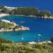 View to peninsula and bay at Corfu island — Stock Photo #13840304