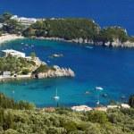 View to peninsula and bay at Corfu island — Stock Photo #13840304