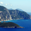 View to peninsula and bay at Corfu island — Stock Photo