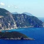View to peninsula and bay at Corfu island — Stock Photo #13840306