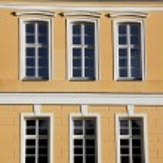 Facade of baroque palace in Rogalin — Stock Photo
