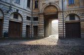 Dom z bramy w mantui — Zdjęcie stockowe