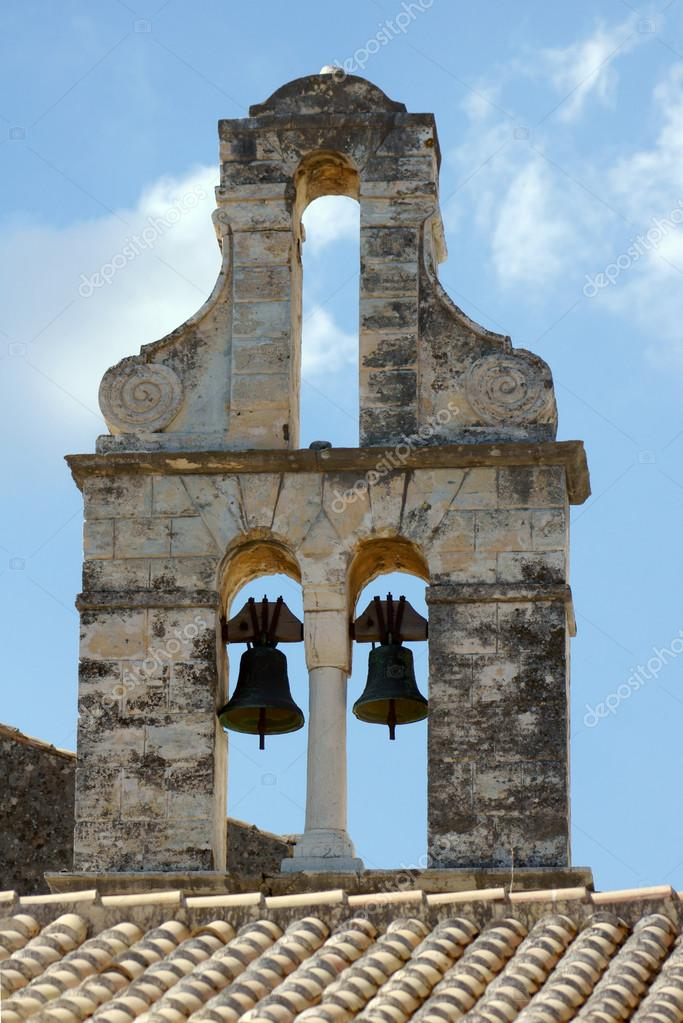 Church tower in Corfu island, Greece — Stock Photo #14128206