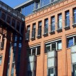 Building from red brick — Stock Photo