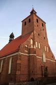 Gotický kostel, polsko — Stock fotografie