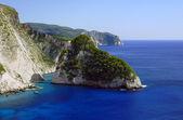 Cliff with rocks, Zakynthos island — Stock Photo